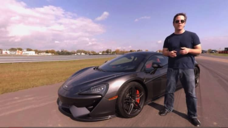 Driving McLaren's Sports Car and 'The Best Corvette' at the M1 Concourse | AutoblogVR