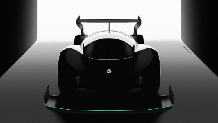 VW teases its Pikes Peak EV Racer