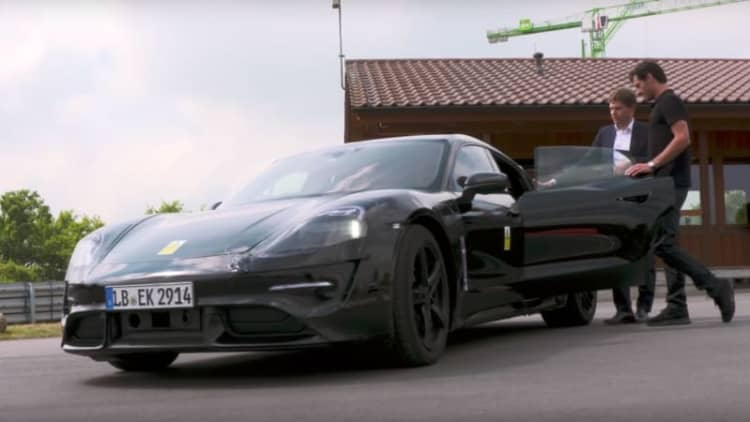 600-horsepower Porsche Mission E gets Mark Webber's seal of approval