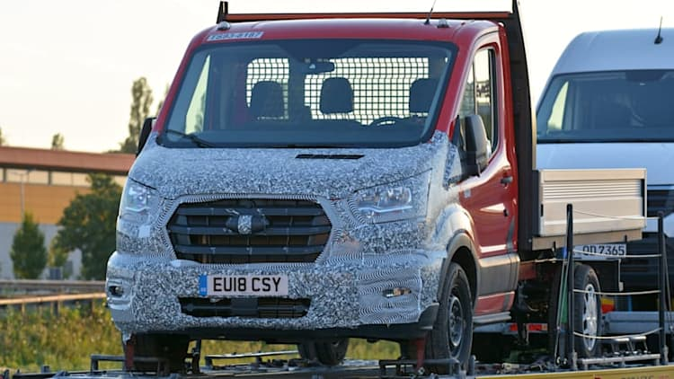 Ford Transit spied with a nose job