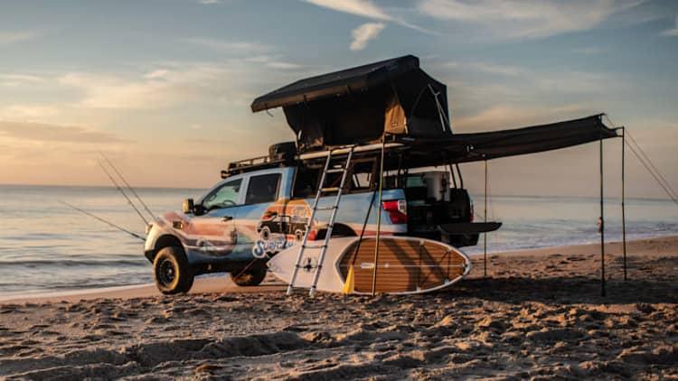 Nissan Titan Surfcamp is a beach house on wheels