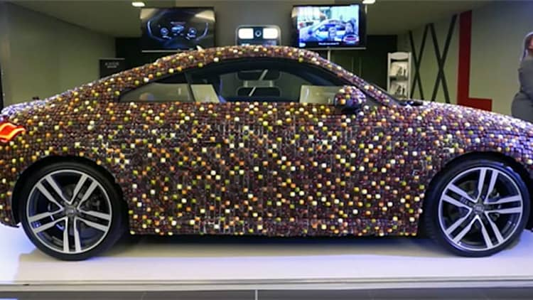 Video  Chocolatecovered Audi TT is more treat that trick