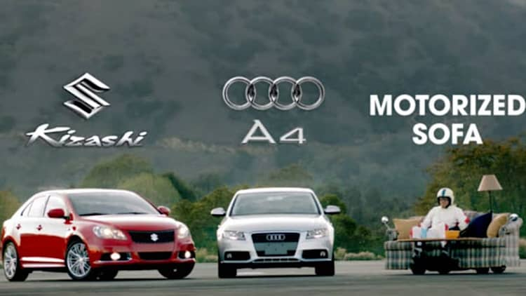 Video: Suzuki pits Kizashi against unlikely competitors