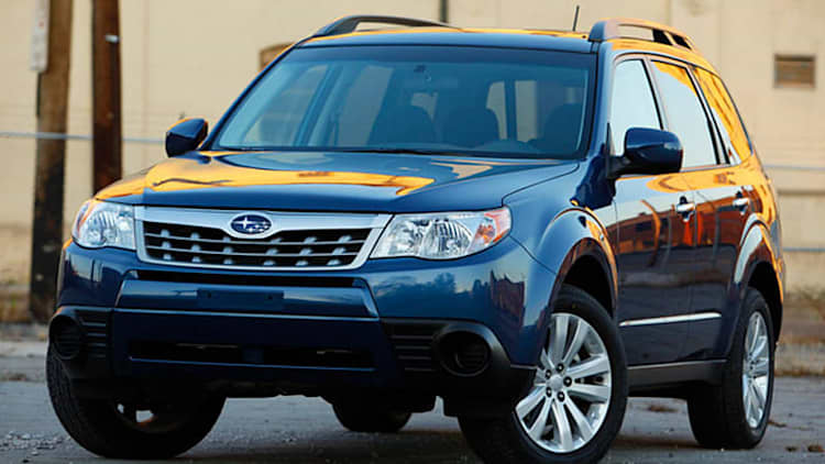 Subaru recalling almost 634,000* CUVs, sedans for possible puddle light short