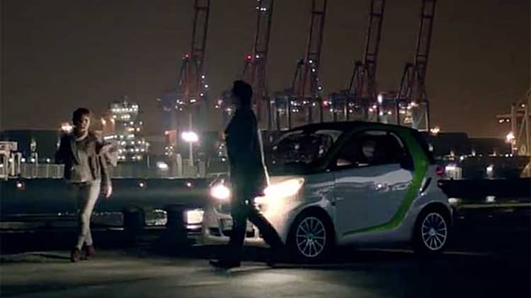 Smart Electric Drive ad offers blockbuster treatment for tiny car