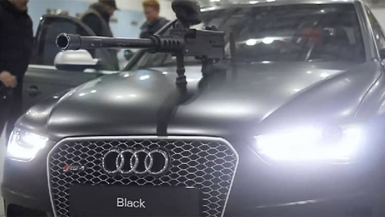 Watch two Audi RS4 Avants play <i>Death Race</i> with paintball