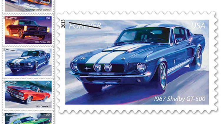 Official USPS Muscle Cars stamps coming to a mailbox near you