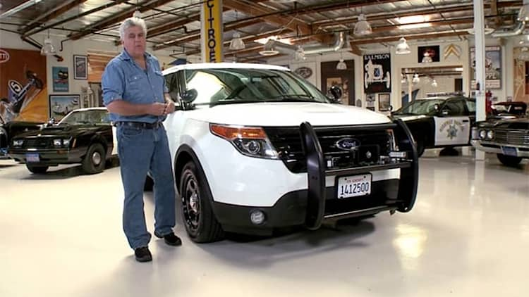 Jay Leno sees how the other half lives with CHP cop cars new and old