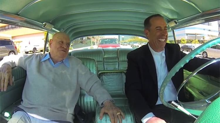 Seinfeld and Don Rickles stretch out in classic Caddy for latest CiCGC
