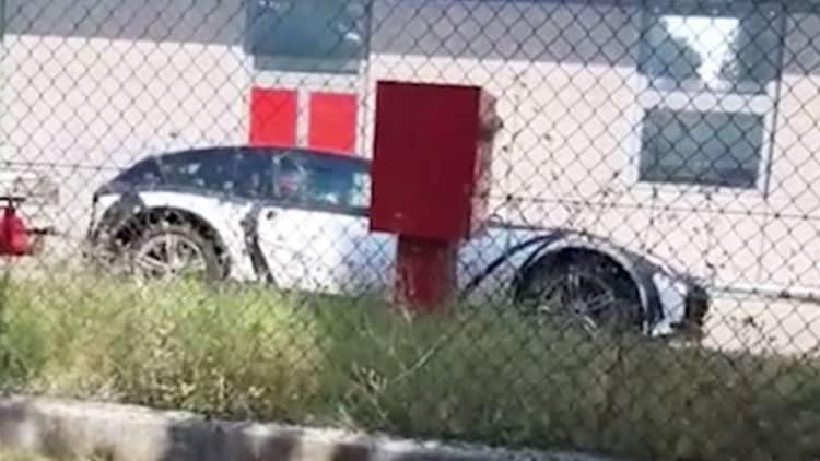 Ferrari Purosangue SUV test mule spied in video