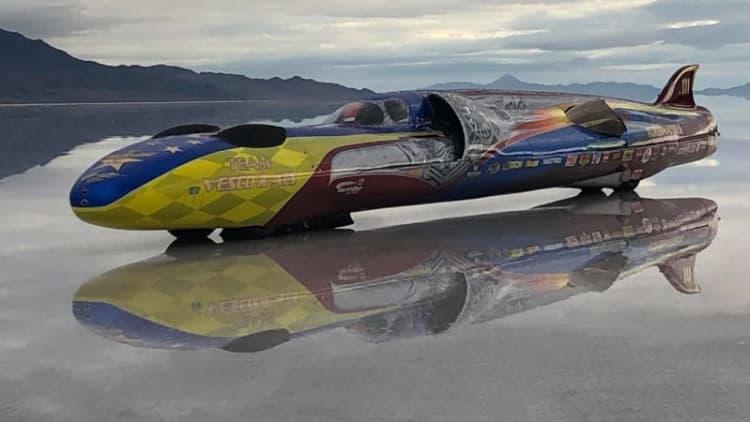 Fastest wheel-driven vehicle, Turbinator II hits 503 mph