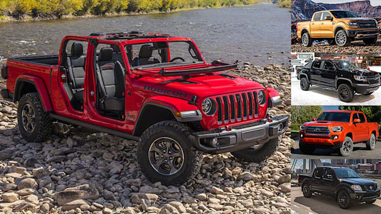 2020 Jeep Gladiator vs. Ranger, Tacoma, Colorado, Frontier: We compare their specifications