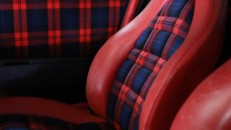 Porsche's best seats are plaid and checkers, not leather