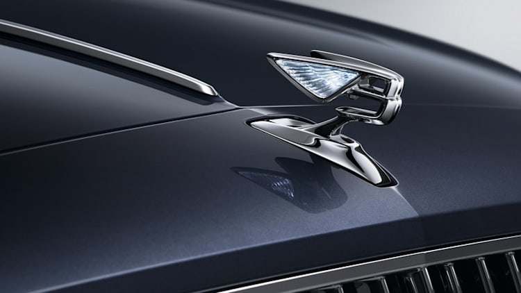 Watch Bentley hood ornament emerge to tease next Flying Spur