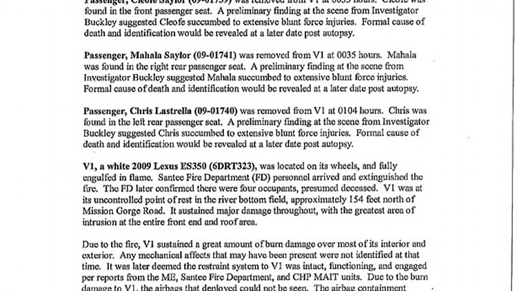 Toyota Dealers San Diego County >> San Diego County Sheriff's Department Incident Report: Saylor Family Accident