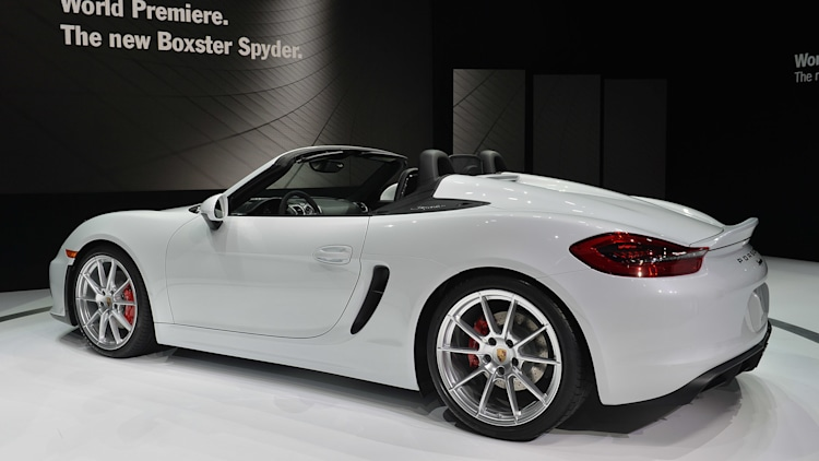 2016 porsche boxster spyder new york 2015 photo gallery autoblog. Black Bedroom Furniture Sets. Home Design Ideas