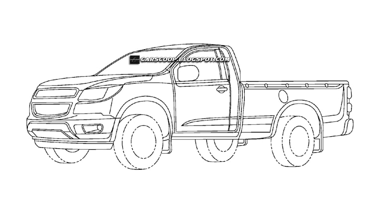 chevrolet patent drawings for a small pickup photo gallery