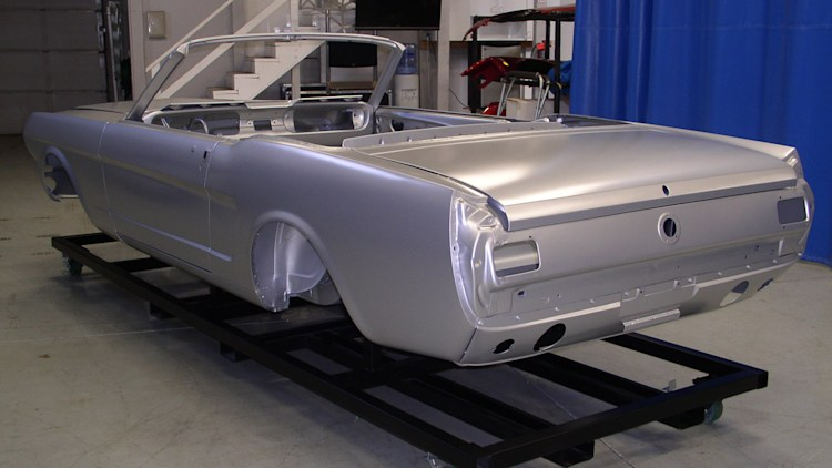 1965 ford mustang convertible body shell photo gallery autoblog. Black Bedroom Furniture Sets. Home Design Ideas