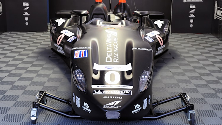 repaired nissan deltawing at petit le mans photo gallery autoblog. Black Bedroom Furniture Sets. Home Design Ideas
