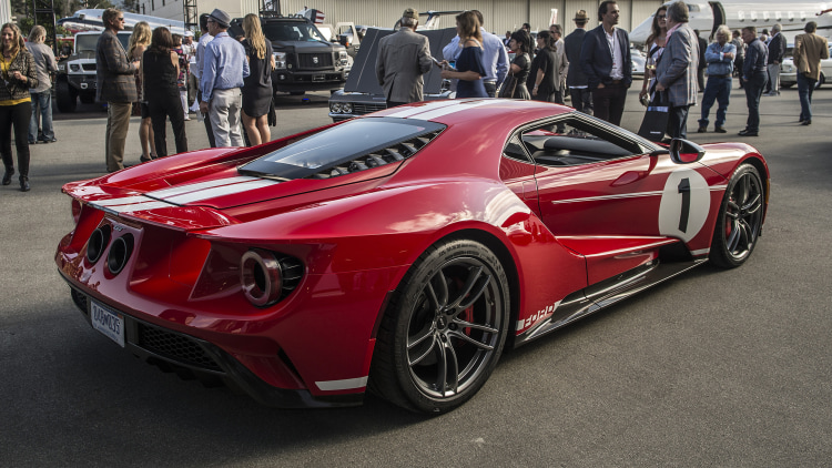 2018 ford gt 67 heritage edition in monterey photo gallery autoblog. Black Bedroom Furniture Sets. Home Design Ideas