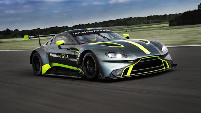 Aston Martin reveals new prototype Vantage GT3 race car at Le Mans