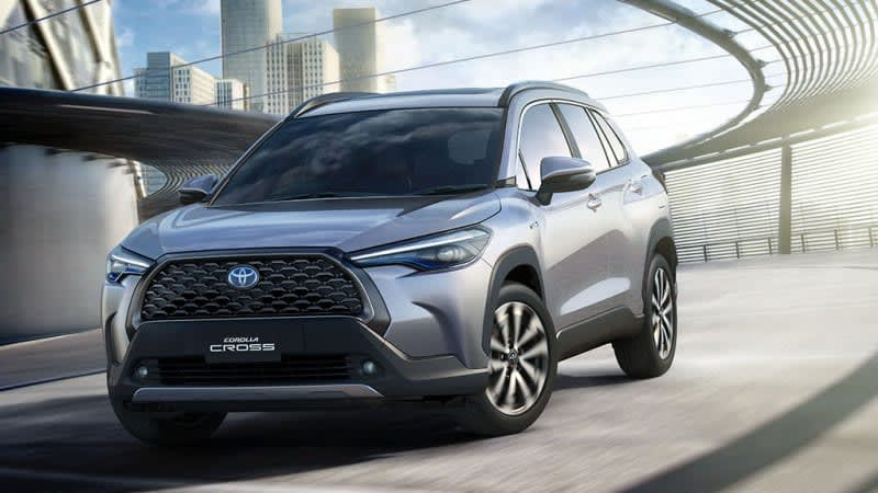 Toyota Corolla Cross rides aggressively high and is headed our way