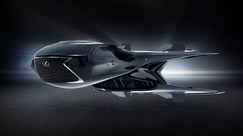 Lexus really put the spindle grille on its imaginary 'Men in Black' jet