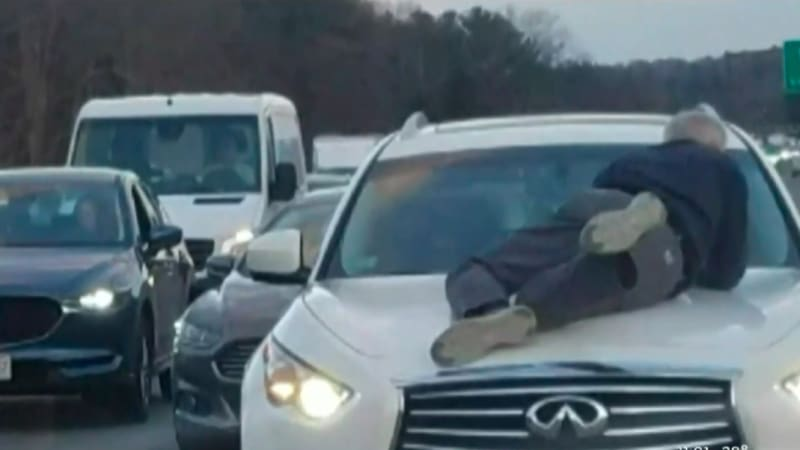 Man clings to hood at 70 mph in latest road rage incident
