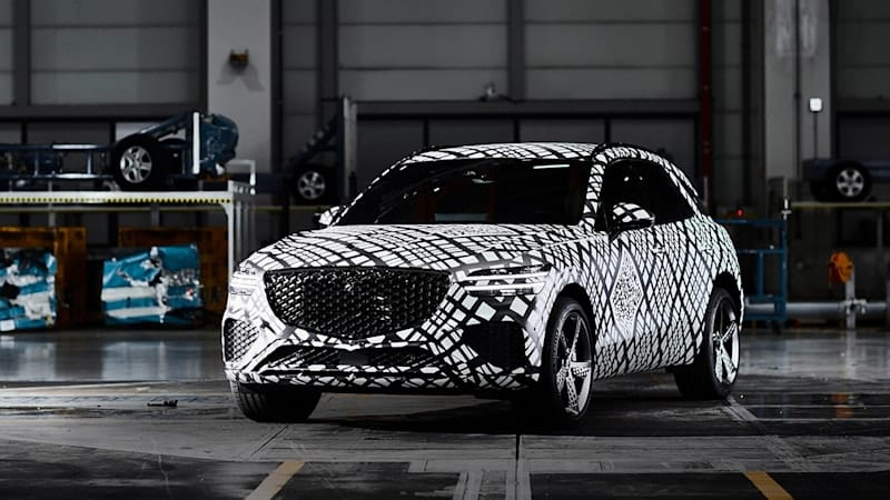 2022 Genesis GV70 shows assertive design in official spy shots