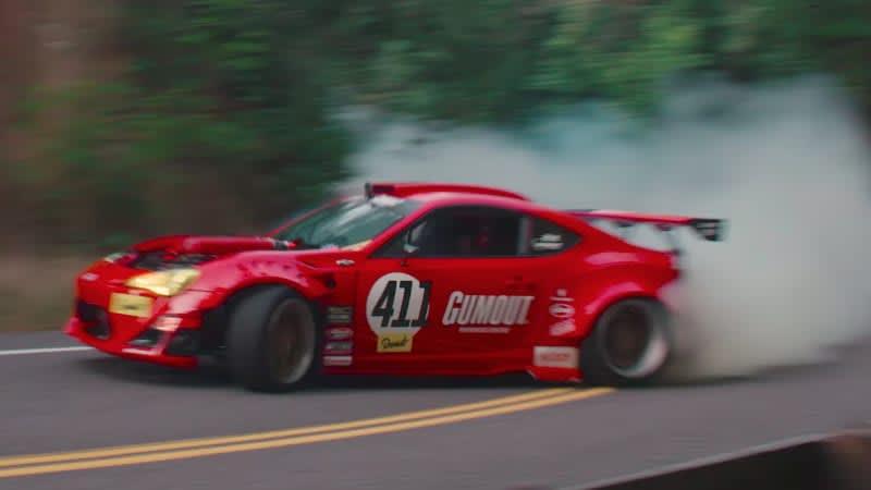 Ryan Tuerck's Ferrari-powered Scion drifts, crashes, fixes, and drifts again