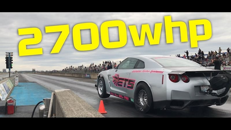 2,700-horsepower Nissan GT-R shows the limits of a dyno