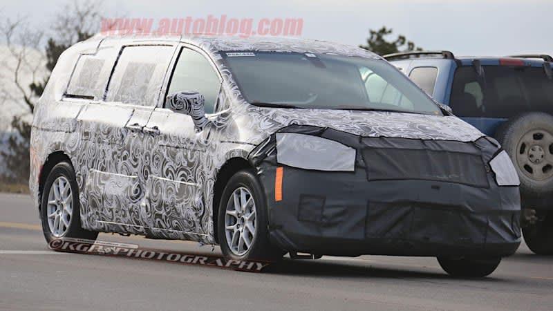 Chrysler minivans spied in group test