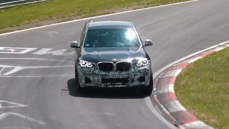Watch the new 2019 BMW X3 M lap the 'Ring