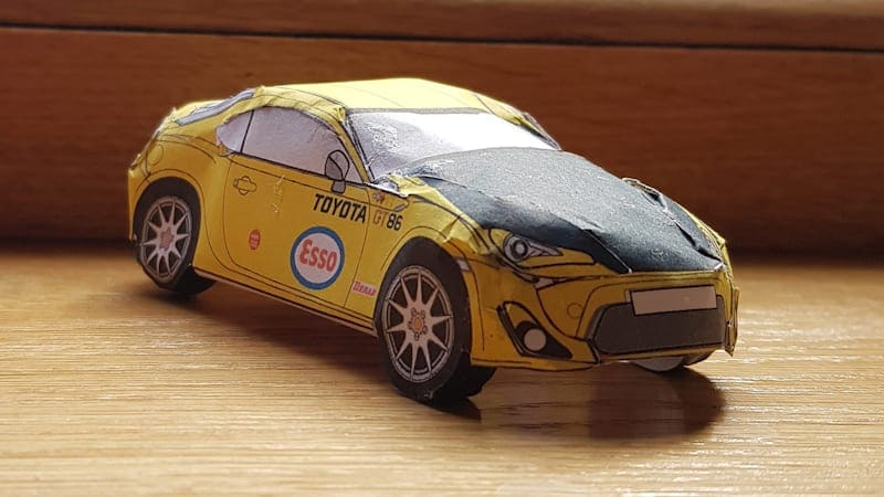 Eat up some hours building paper Toyota 86 retro models