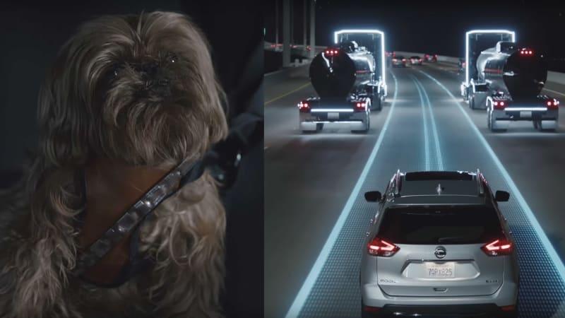 New Nissan Star Wars ad stars dog that looks like Chewbacca