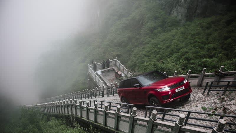 Range Rover Sport PHEV climbs 999 steps to Heaven's Gate