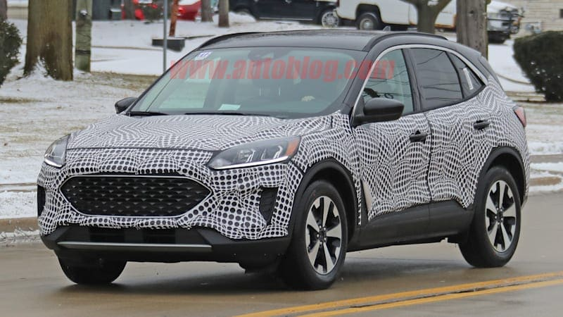 2020 Ford Escape Hybrid spied with interior completely uncovered