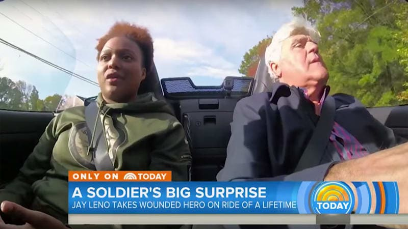 Jay Leno gifts wounded warrior a Fiat 124 Spider Abarth