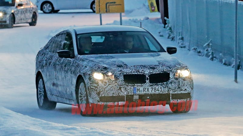 BMW 5 Series GT spied in the snow
