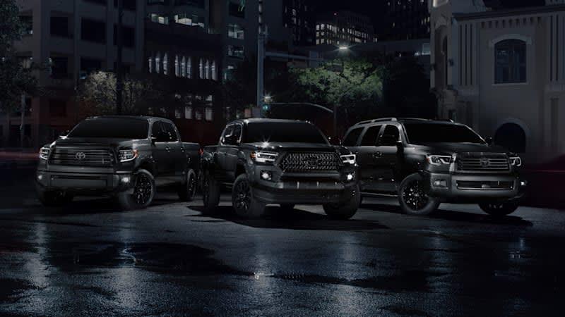 Toyota Tacoma, Tundra, Sequoia go dark with Nightshade Editions