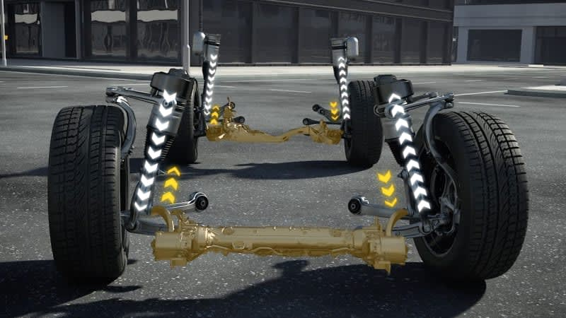 Audi A8's active suspension will even protect you in a crash