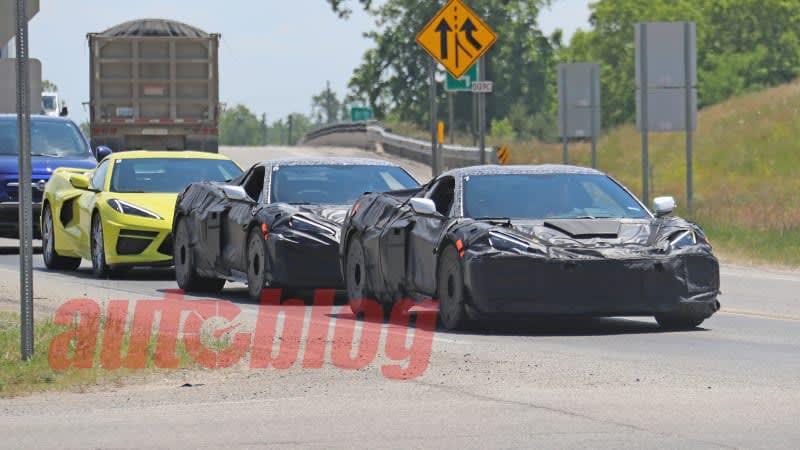 C8 Chevrolet Corvette Z06 seen and heard testing on public roads