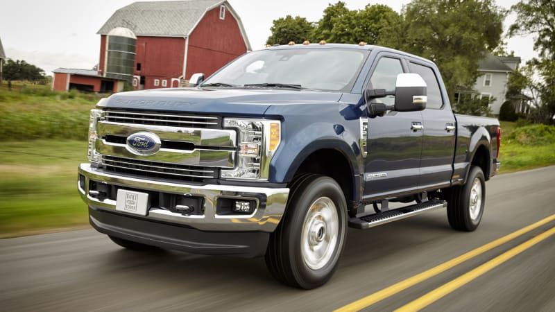 2017 Ford Super Duty trucks recalled because the fuel tank could fall off