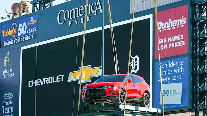 GM scratches Chevy Blazer from the lineup at Comerica Park