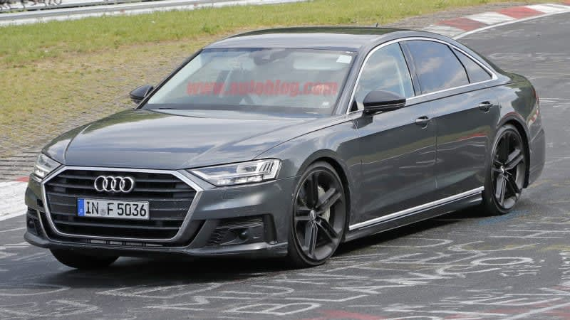 2019 Audi S8 spied completely uncovered at the Nurburgring
