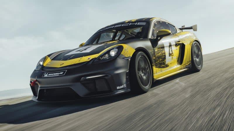 Porsche 718 Cayman GT4 Clubsport picks up power, hemp body parts