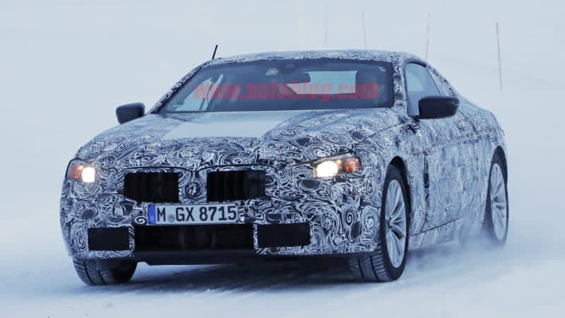 BMW's slinky new 6 Series coupe and convertible spied in the snow