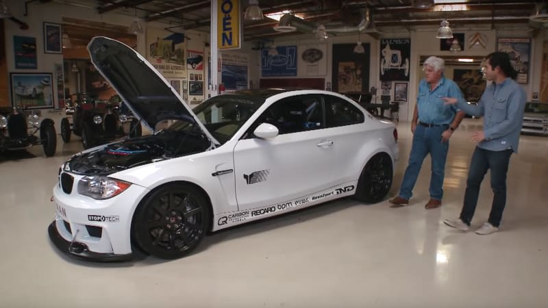 Listen to the V8 howl of this modified BMW 135i on Jay Leno's Garage