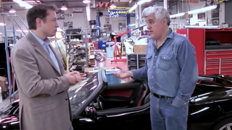 Jay Leno releases 2008 footage with Elon Musk and a Tesla Roadster