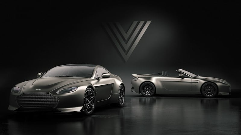 Aston Martin V12 Vantage V600 sends old model out with 600-horsepower bang